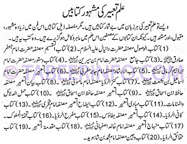 Eilm-e-Tabeer-Ki-Mashhoor-K