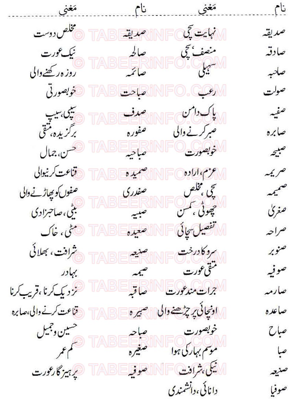 Islamic Names For Girls Starting With Soad   Khawab Ki Tabeer