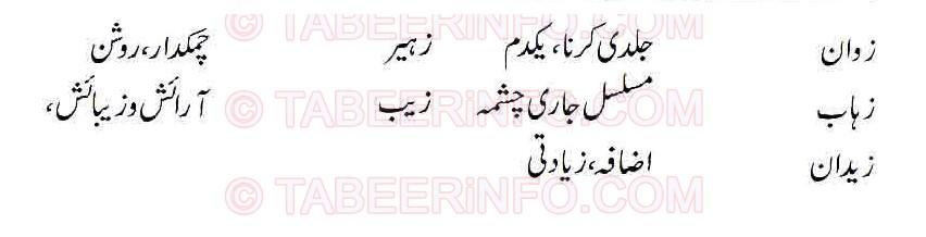 Islamic Names For Boys Starting With Zay - Khwab Ki Tabeer