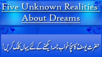 Five Unknown Realities About Dreams